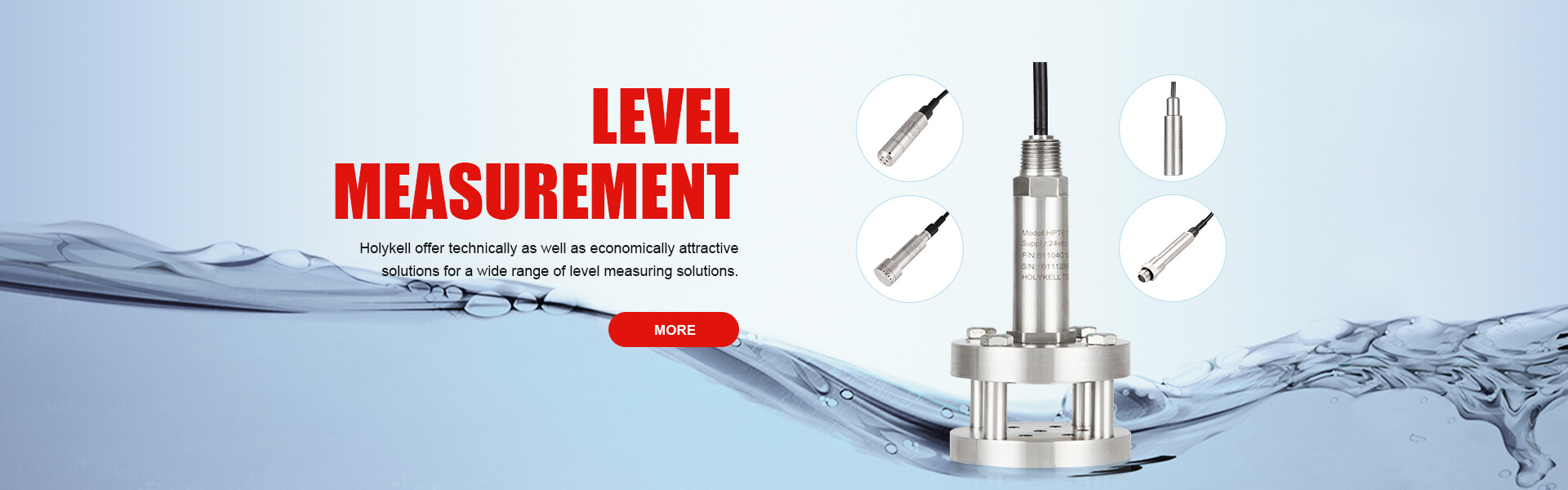 Level measurement used in water treatment