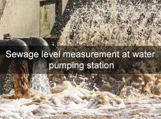 Sewage level measurement at water pumping station
