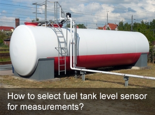 How to select fuel tank level sensor for measurements?