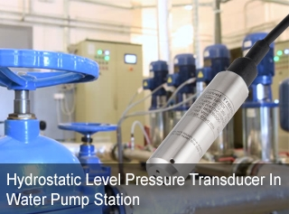 Hydrostatic Level Pressure Transducer In Water Pump Station
