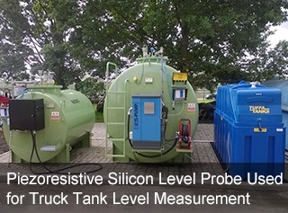 Piezoresistive Silicon Level Probe Used for Truck Tank Level Measurement