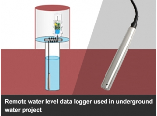 Remote water level data logger used in underground water project