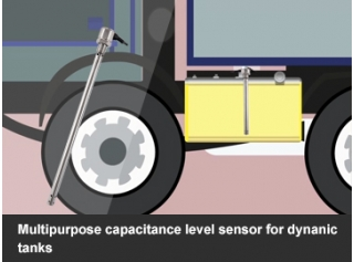 Multipurpose Capacitance level sensor for moving tanks