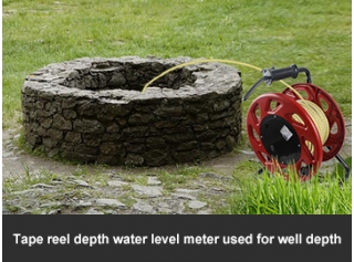 Tape reel depth water level meter used for well depth
