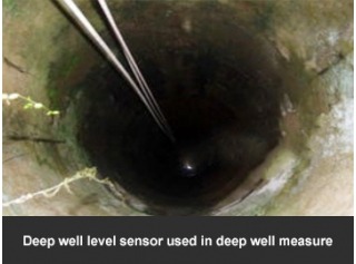 Deep well level sensor used in deep well measure