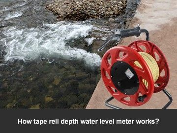 How tape rell depth water level meter works