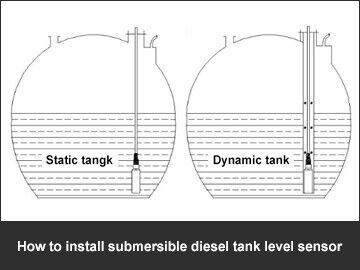 How to install submersible diesel tank level sensor