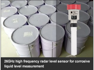 26GHz high frequency radar level sensor for corrosive liquid level measurement