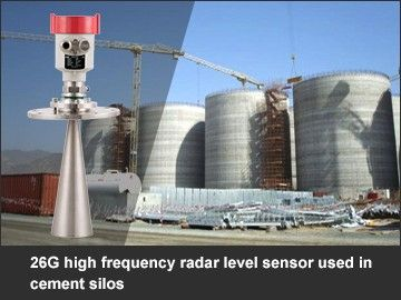 26G high frequency radar level sensor used in cement silos