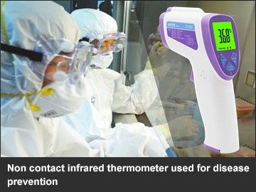Non contact infrared thermometer used for disease prevention