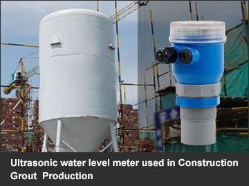 Ultrasonic water level meter used in Construction Grout  Production