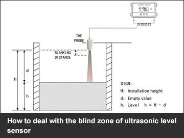 How to deal with the blind zone of ultrasonic level sensor