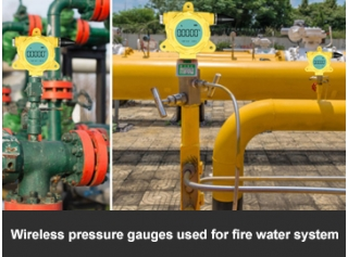 Wireless pressure gauges used for fire water system